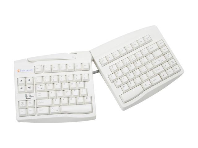 Key Ovation Goldtouch for Mac Adjustable Keyboard - White USB Model GTU-MACW
