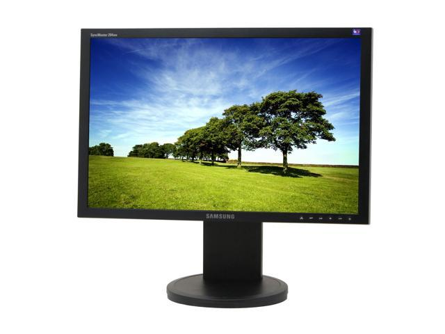 "SAMSUNG SyncMaster 204BW Black 20"" 6ms Widescreen LCD Monitor with Height Adjustments"