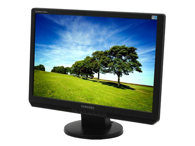 "SAMSUNG 220WM Black 22"" 5ms Widescreen LCD Monitor Built-in Speakers"