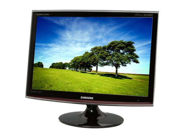 """SAMSUNG T240HD Rose-Black 24"""" 5ms Widescreen HDTV Monitor Built-in Speakers"""