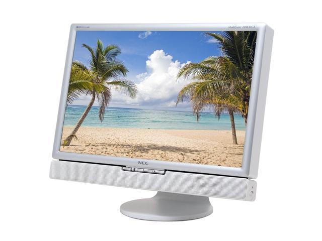 "NEC Display Solutions MultiSync 20WMGX2 Silver 20.1"" 6ms Widescreen LCD Monitor with TV-Tuner & 4-port USB 2.0 hub Built-in ..."