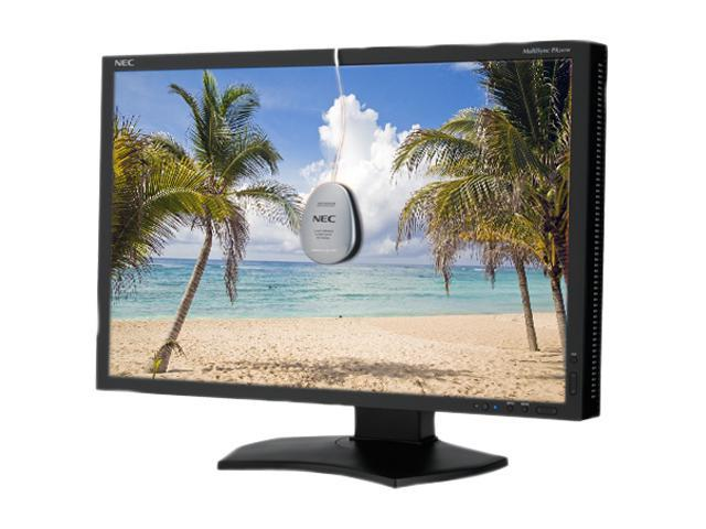 "NEC Display Solutions PA241W-BK-SV Black 24.1"" 16ms, 8ms(GTG) Widescreen LCD monitor w/SpectraViewII"