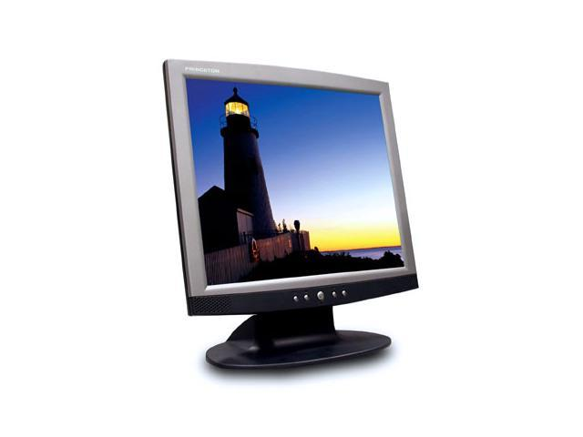 """PRINCETON LCD19D Black-Silver 19"""" 25ms LCD Monitor Built-in Speakers"""