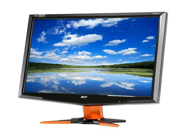"Acer GD235HZbid Black / Orange 23.6"" 2ms(GTG) Widescreen 1080p 120Hz NVIDIA 3D LCD Monitor"