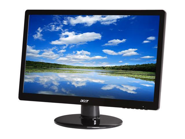 "Acer ET.DS0HP.A01 S200HLAbd (ET.DS0HP.A01) Black 20"" 5ms Widescreen LED Backlight LCD Monitor"