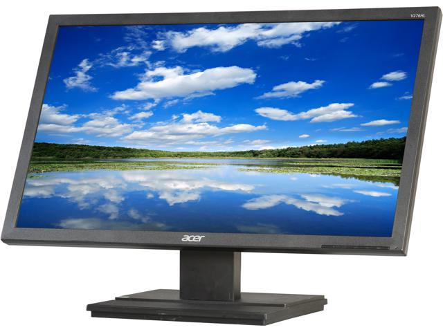 "Acer UM.HV6AA.001 Black 27"" 5ms Widescreen LED Backlight Monitor Built-in Speakers"
