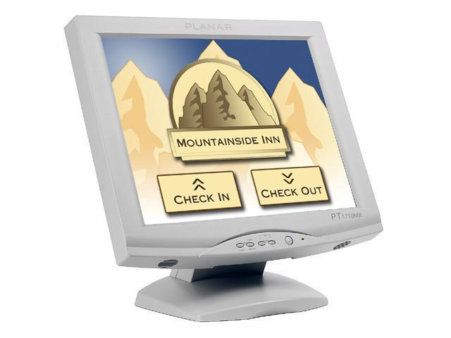 "PLANAR PT1710MX(997-3351-00) White 17"" Dual serial/USB 5-wire Resistive Touchscreen Monitor Built-in Speakers"