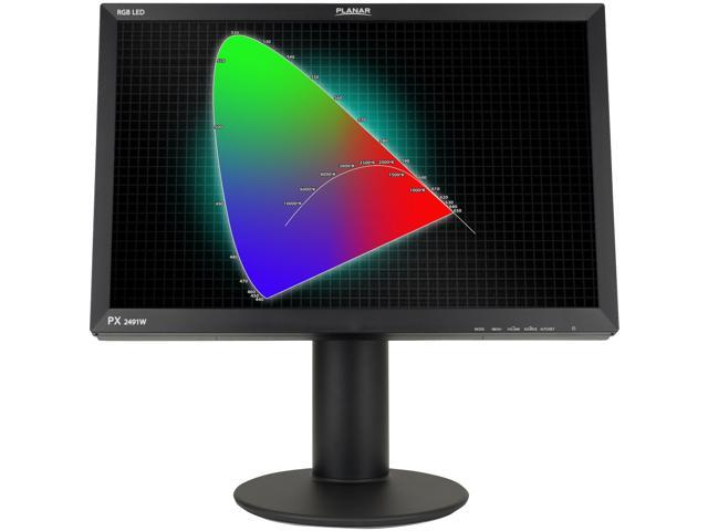 "PLANAR PX2491W (997-6198-00) Black 24"" 6ms Widescreen LCD Monitor"