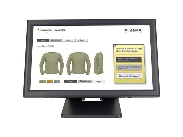 """PLANAR PT1945RW Black 18.5"""" Dual serial/USB 5-wire Resistive Touchscreen Monitor Built-in Speakers"""