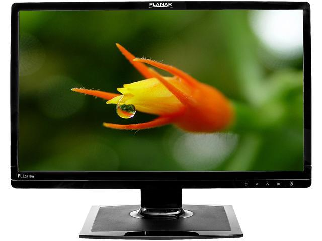 "PLANAR PLL2410W Black 24"" 5ms Widescreen LED Backlight LCD Monitor"