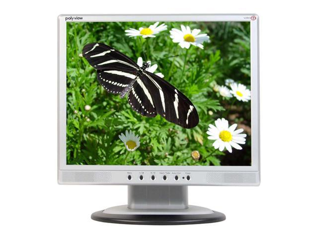 """Polyview V293 Black-Silver 19"""" 21ms LCD Monitor Built-in Speakers"""