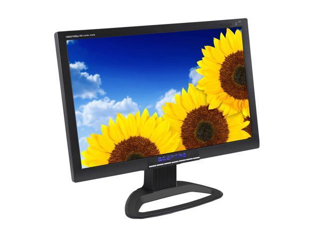 "SCEPTRE X20WG-Naga Black 20.1"" 5ms (GTG) Widescreen LCD Monitor Built-in Speakers"