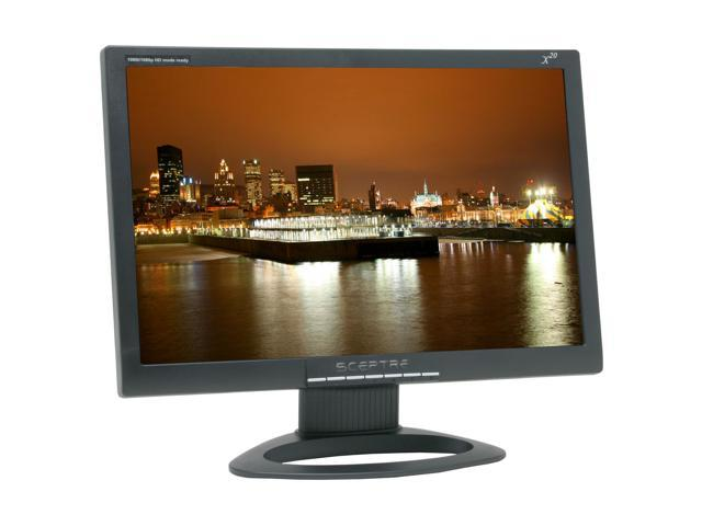 "SCEPTRE X20G-Naga III Black 20.1"" 8ms(GTG) Widescreen HD Ready LCD Monitor Built-in Speakers"