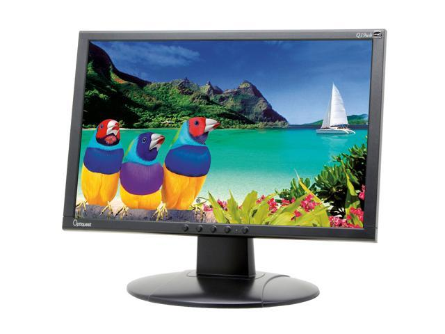 """ViewSonic Optiquest Series Q19WB-2 Black 19"""" 5ms Widescreen LCD Monitor Built-in Speakers"""