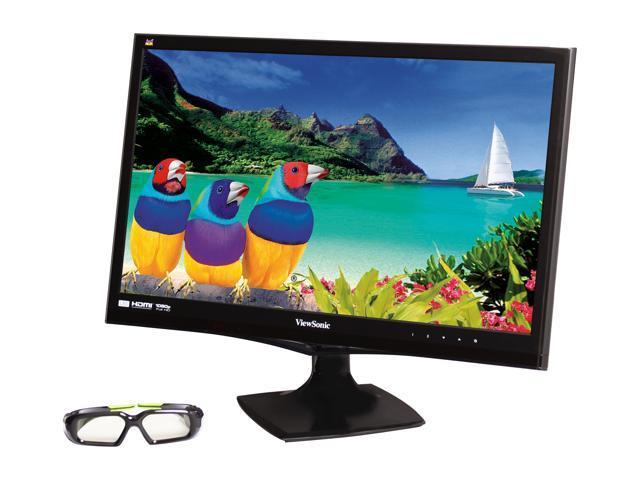 "ViewSonic V3D245 Black 23.6"" 2ms (GTG) Widescreen LED Backlight 3D-Ready LED Monitor Built-in Speakers"