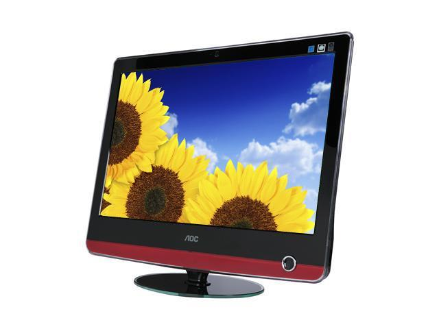 """AOC V22 Piano-black Glossy 22"""" 2ms(GTG) Widescreen LCD Monitor Built-in Speakers"""
