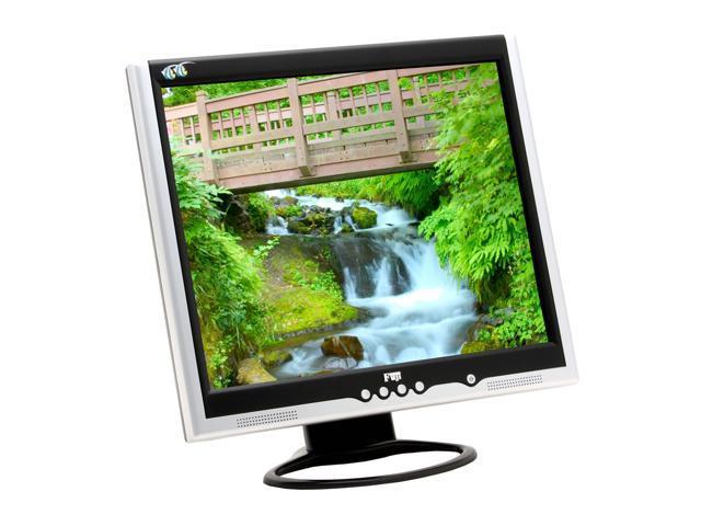 """FujiPLUS FP-988D Silver-Black 19"""" 12ms LCD Monitor Built-in Speakers"""