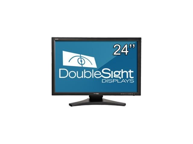 "DoubleSight Black 24"" 5ms LCD Monitor Built-in Speakers"