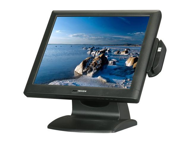 """TRIVIEW by Tatung TS17R-MU02 Black 17"""" Serial/USB ELO 5-wire Resistive Touchscreen Monitor Built-in Speakers"""