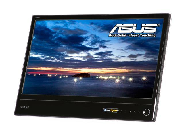 """ASUS MS246H Glossy Black / White 23.6"""" 2ms(GTG) Widescreen LCD Monitor"""