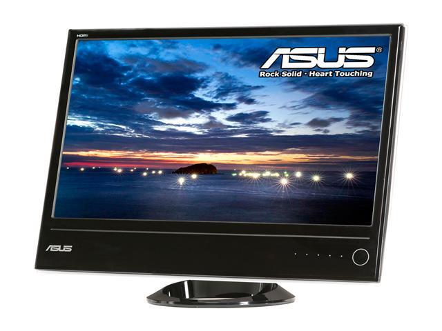 "ASUS ML228H Glossy Piano Black 21.5"" 2ms (GTG) Widescreen LED Backlight LCD Monitor Slim Design"