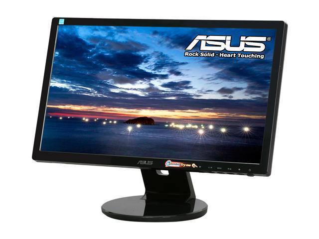 "ASUS VE Series VE205T Black 20"" 5ms Widescreen LCD Monitor Built-in Speakers"