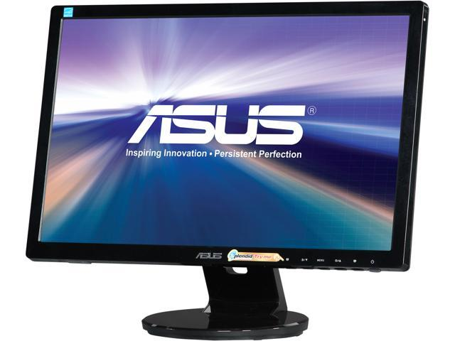 """ASUS VE Series VE198N Black 19"""" 5ms Widescreen LED Backlight LCD Monitor"""