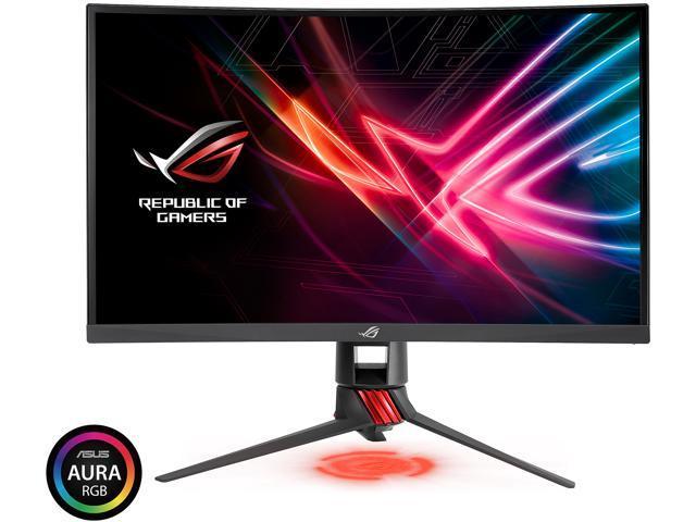 asus rog strix xg27vq 27 curved full hd 1080p 144hz dp hdmi dvi eye care gaming monitor. Black Bedroom Furniture Sets. Home Design Ideas
