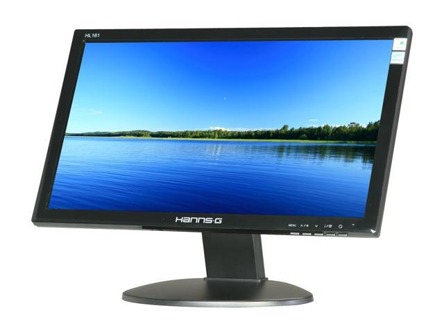 "Hanns-G HL161ABB Black 16"" 16ms Widescreen LED Backlight LCD Monitor"