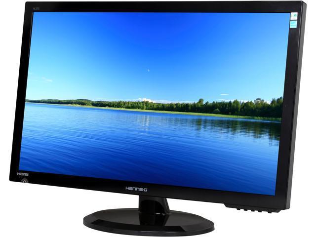 "Hanns-G HL273HPB Black 27"" 2ms Widescreen LED Backlight LCD Monitor (WLED) Built-in Speakers"