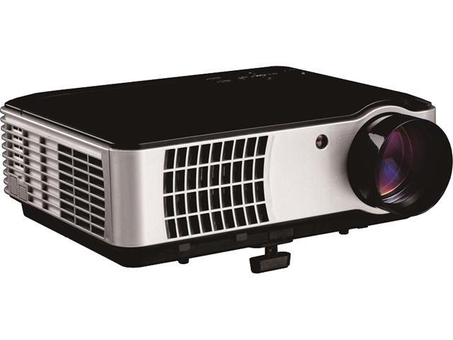 ProHT 05549 HD Projector 2800 Lumens, Multimedia Home Theater LED Video Projector Support 1080p HDMI USB AV VGA, Black