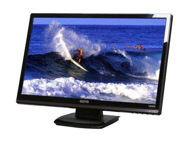 """Auria EQ236 Black 23.6"""" 5ms Widescreen LCD Monitor Built-in Speakers"""