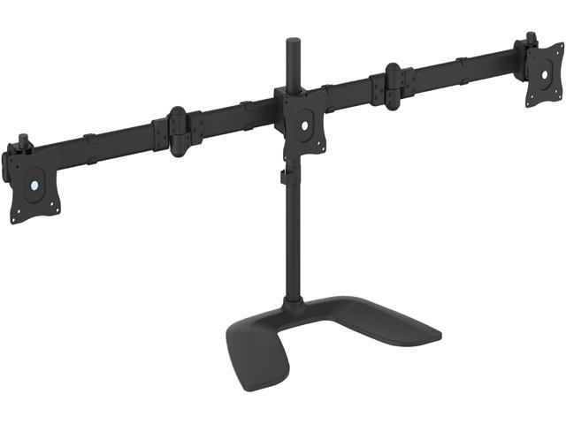 startech armbartrio2 triple monitor stand steel monitors up to 27
