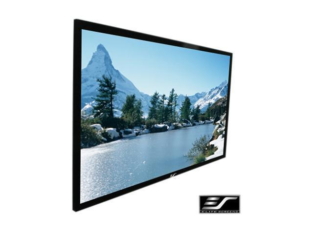 "Elitescreens 92"" HDTV(16:9) Fixed Frame ezFrame Wall Mount Fixed Frame Projection Screen (92"" 16:9 AR) (CineWhite) R92WH1"