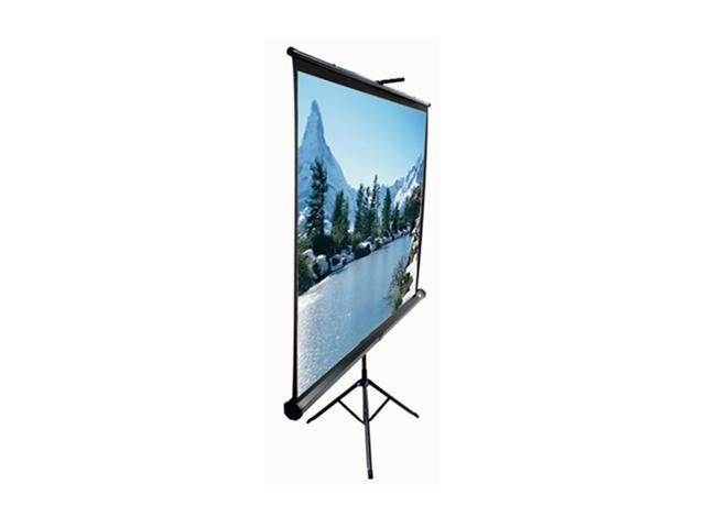 "Tripod Portable Tripod Manual Pull Up Projection Screen (100"" 4:3 AR) (MaxWhite)"