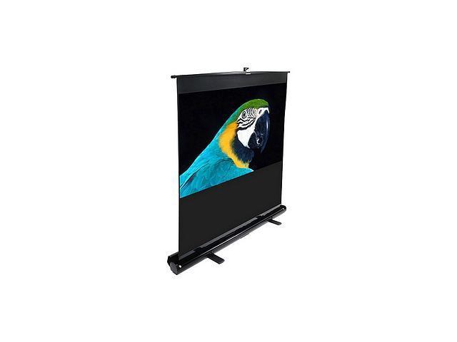 "Elitescreens 84"" HDTV(16:9) Portable ezCinema Portable Floor Set Manual Projection Screen (84"" 16:9 AR) (MaxWhite) F84NWH"