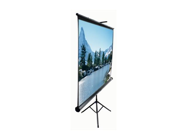 "Elitescreens Tripod Portable Tripod Manual Pull Up Projection Screen (71"" 1:1 AR) (MaxWhite) T71UWS1"