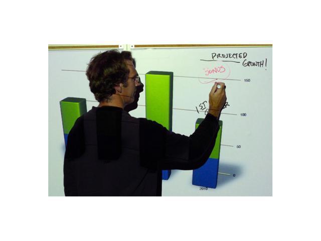 EliteSCREENS IWB52VWM Insta-DEM Wall Mount Pliable Magnetic Projection Screen (52