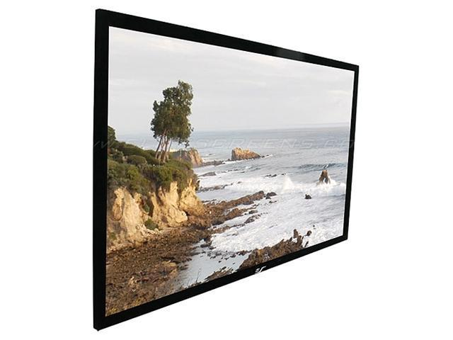"""EliteSCREENS ER135WH1 Sable Frame Wall Mount Fixed Frame Projection Screen (135"""" 16:9 AR) (CineWhite)"""
