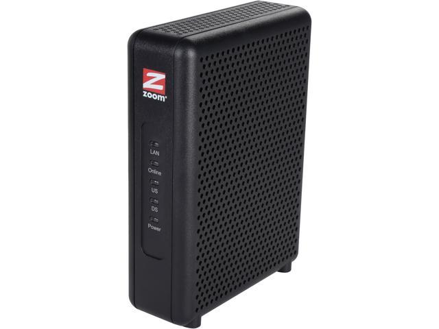 Zoom 5345 DOCSIS 3.0 8 x 4 343 Mbps Cable Modem Up to 343 Mbps Downstream, up to 123 Mbps Upstream RJ-45 10/100/1000 Mbps Ethernet, with Auto-MDI/MDIX DOCSIS 3.0