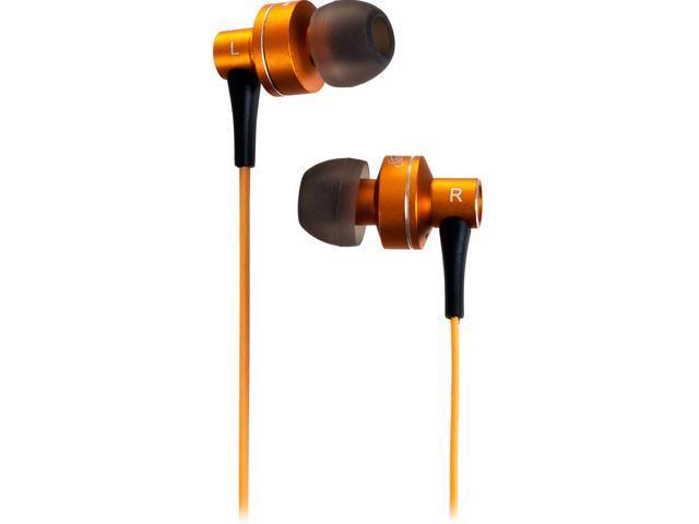 Orange SEB-2014 Stereo HD Bass Metal Earphones - Orange