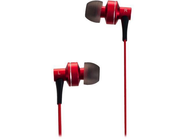 Sunbeam Red SEB-2014 Stereo HD Bass Metal Earphones - Red
