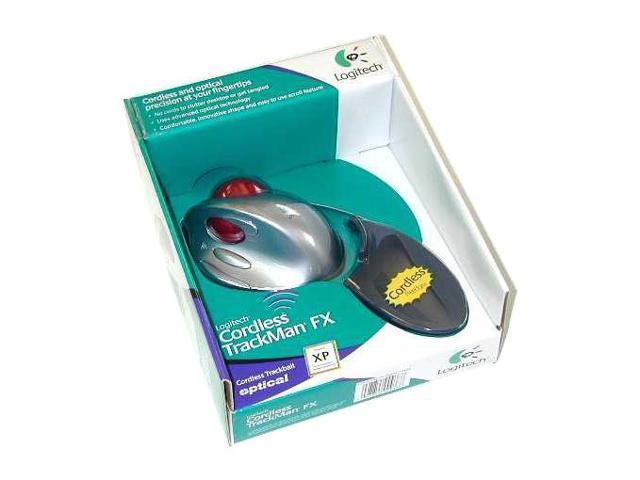 Logitech Cordless Trackman FX 904357-0403 2-Tone RF Wireless TrackBall Mouse