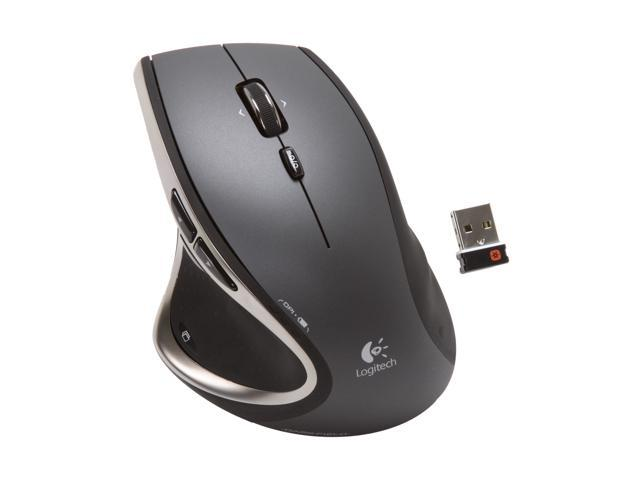 Logitech Performance Mouse MX 910-001105 Black 9 Buttons Tilt Wheel USB RF Wireless Laser (Darkfield) Mouse