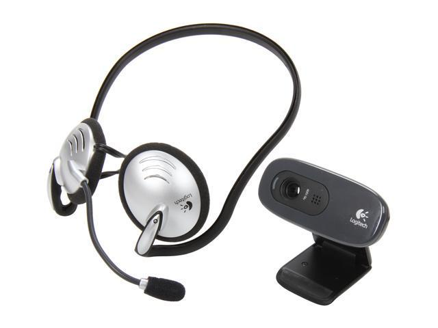 Logitech C270 HD WebCam w/ Behind-the-Head Headset