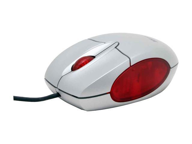 Microsoft M20-00001 Silver 3 Buttons 1 x Wheel USB Wired Optical Notebook Mouse