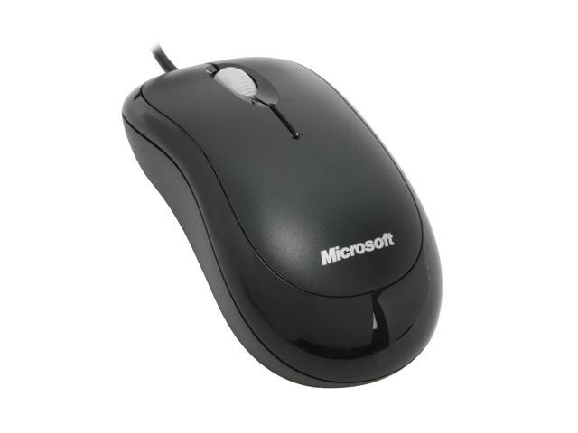 Microsoft Basic Black Wired Optical Mouse