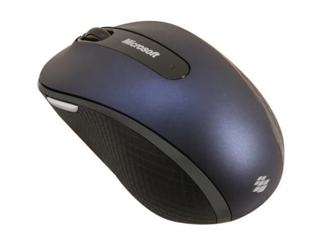 Microsoft Wireless Mobile Mouse 4000 D5D-00053 Wool Blue 4 Buttons Tilt Wheel USB 2.0 RF Wireless BlueTrack Mouse