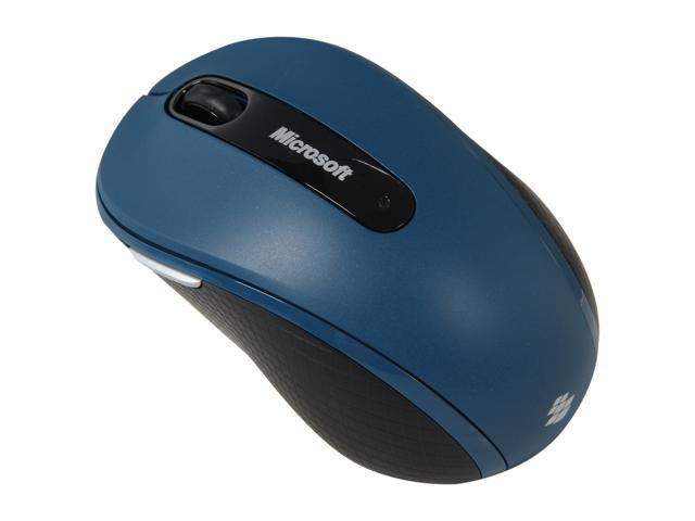 Microsoft Mobile Mouse 4000 D5D-00047 Sea Blue RF Wireless BlueTrack Mouse