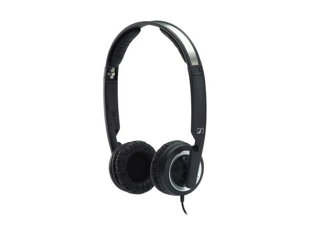 Sennheiser Black PX 200 II 3.5mm Connector On-the-ear Closed Mini Foldable Headphone,Black